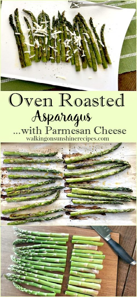 Oven Roasted Asparagus with Parmesan Cheese from Walking on Sunshine LONG