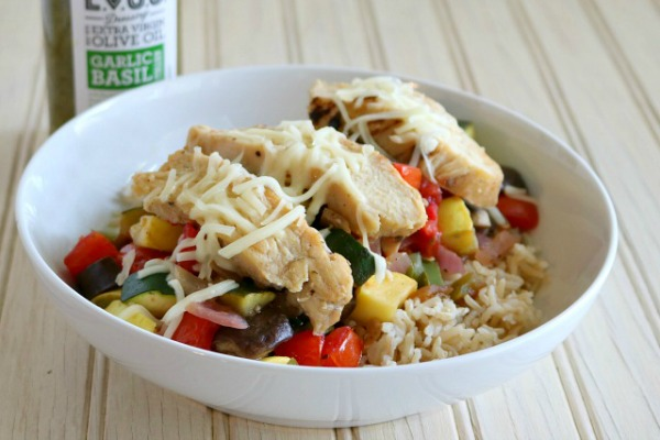 Quick and Easy Ratatouille Chicken Bowls from Premeditated Leftovers