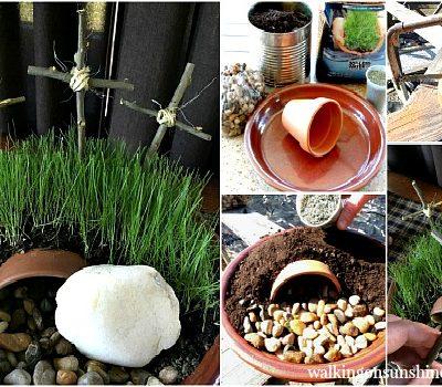 Resurrection Garden for Easter Decorating