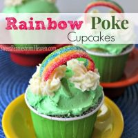 Easy Rainbow Poke Cupcakes - Perfect for St. Patrick's Day