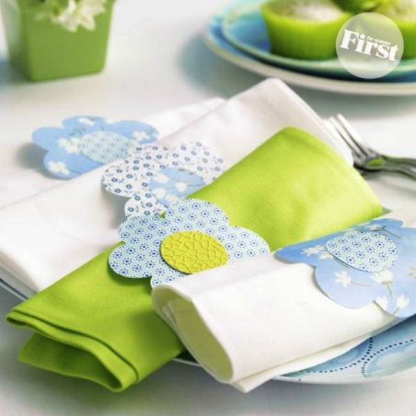 Pretty Daisy Napkin Rings
