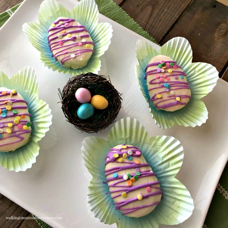 Mini Easter Egg Cakes are so cute and perfect to serve for dessert for any spring occasion.