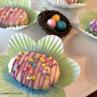 Easter Egg Cakes Closeup