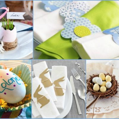 Easter Place Cards and Napkin Ring Ideas