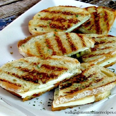Grilled Pesto Panini Sandwiches