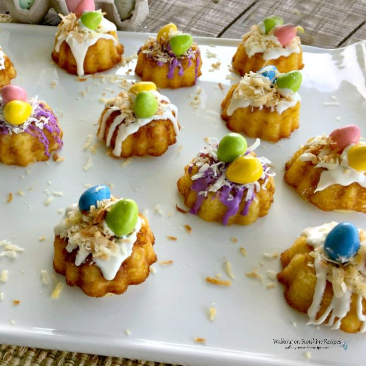 Easter Mini Bundt Cakes from a Cake Mix
