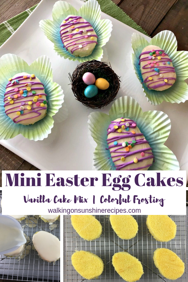 Mini Easter Egg Cakes from Walking on Sunshine Recipes
