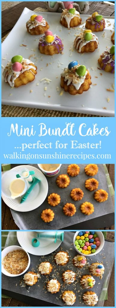 Mini Bundt Cakes from a Cake Mix are a fun way to celebrate any celebration from Walking on Sunshine.
