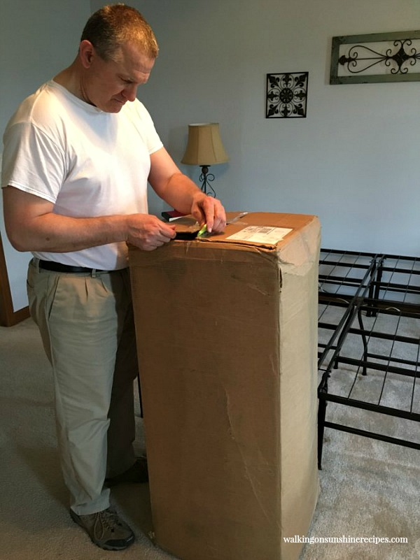 Otter Bed Mattress arrives in a box from Walking on Sunshine