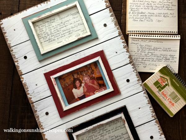 Project: DIY Kitchen Art from Old Family Recipe Cards from Walking on Sunshine.