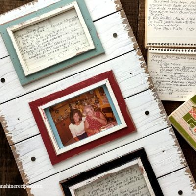 DIY Kitchen Art from Old Family Recipes