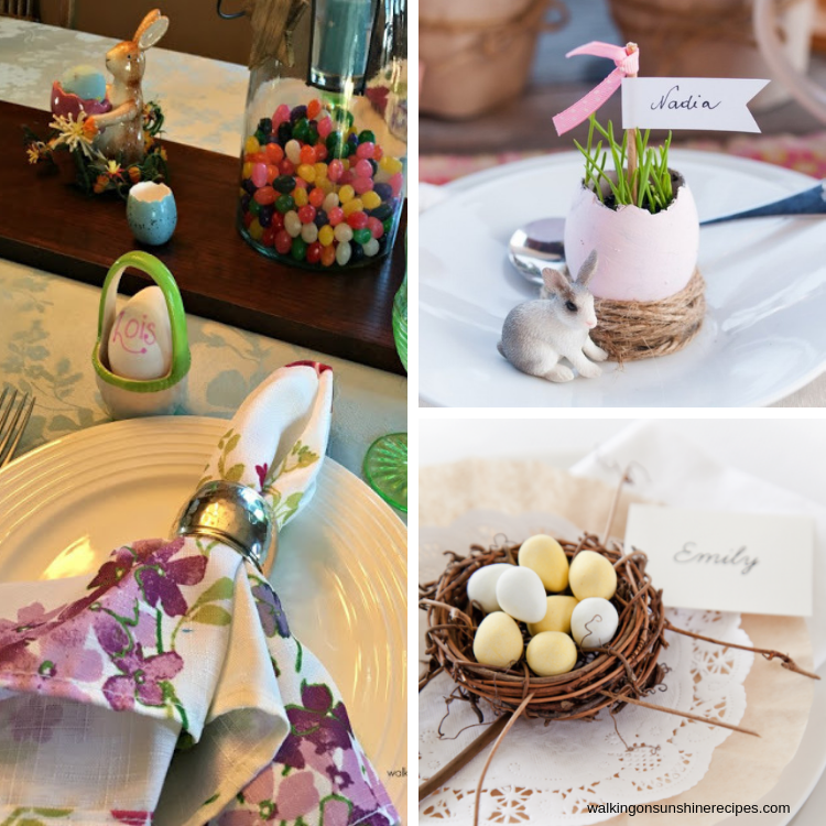 Easter Place Setting and Napkin Ring Ideas