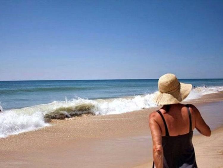 Beth at the beach