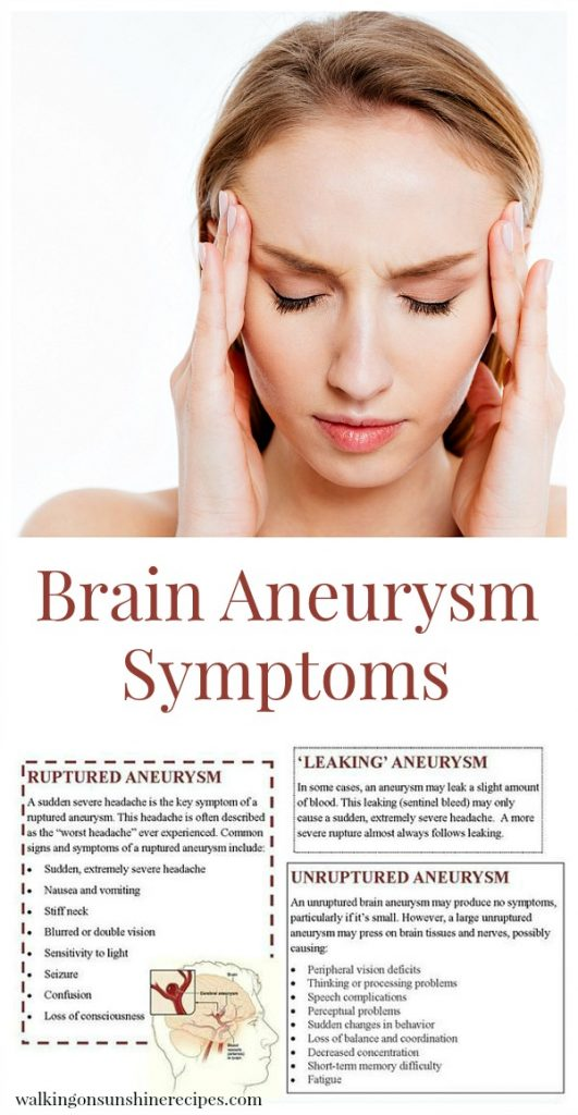Brain Aneurysm Symptoms and Facts - What You Can Do