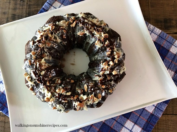 Easy German Chocolate Cake from a Cake Mix from Walking on Sunshine