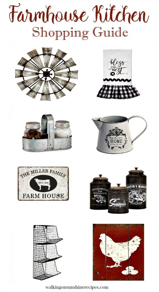 A great collection of kitchen farmhouse decor that you can afford featured today on Walking on Sunshine