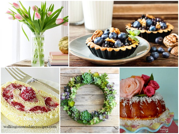 Garden Party Recipes and Decor featured on Walking on Sunshine.