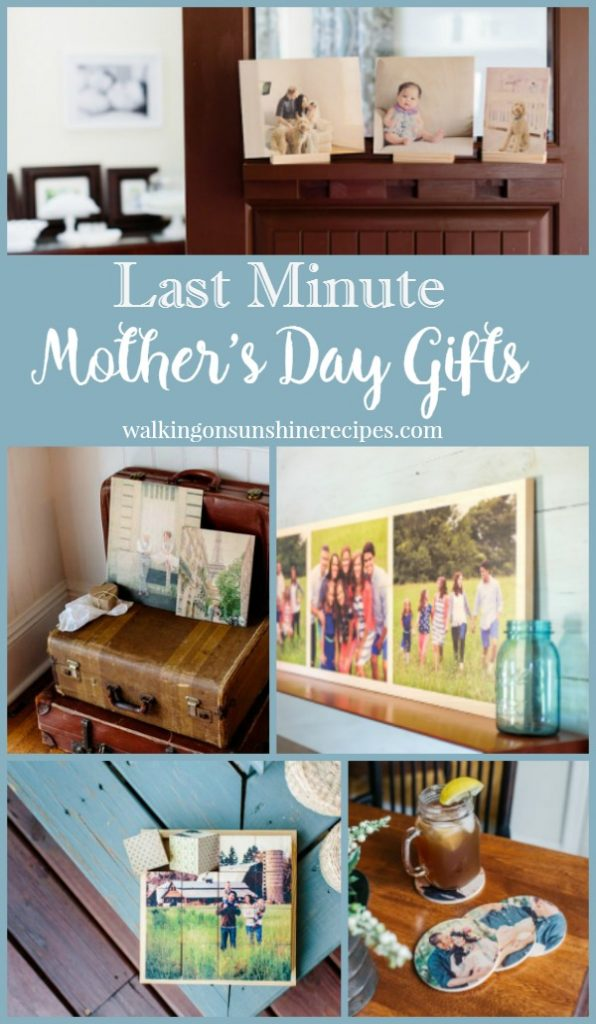 Here's a great idea for last minute Mother's Day Gift Ideas featured on Walking on Sunshine.