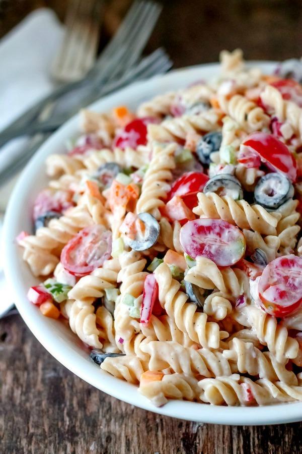Lemon Pepper Pasta Salad from Bunny's Warm Oven