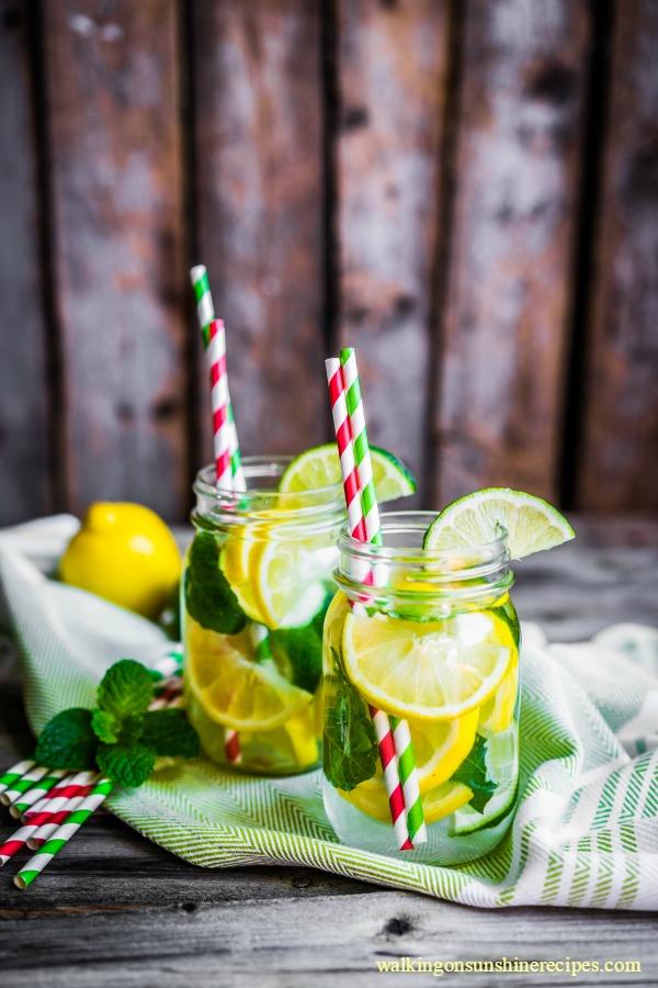 Fresh lemonade with mint from Walking on Sunshine.