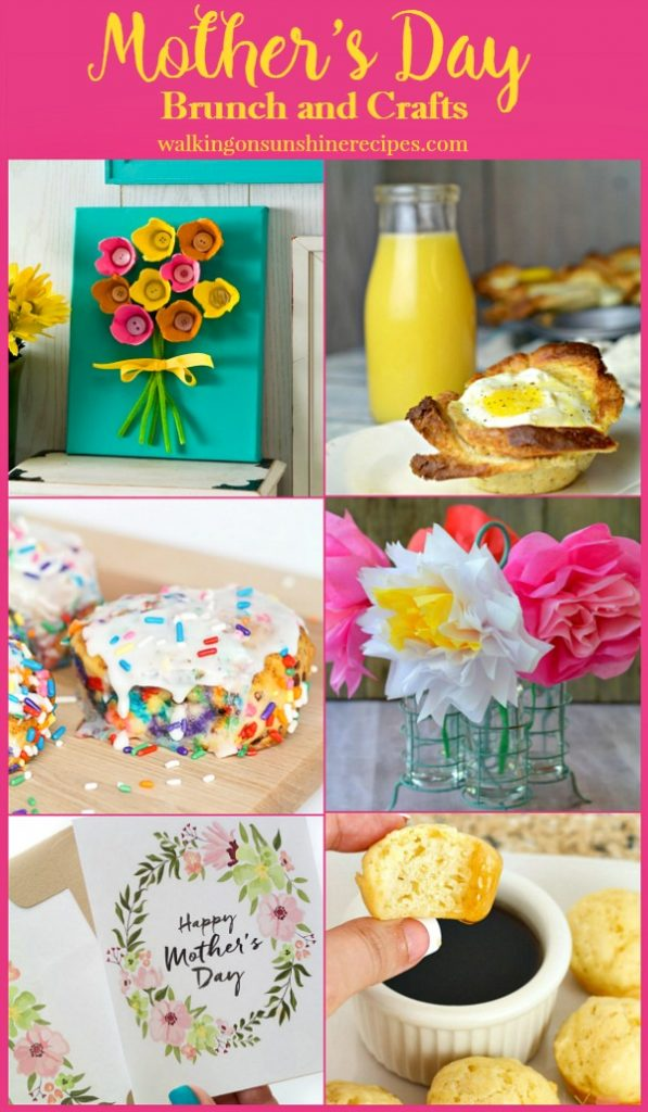 Mother's Day Brunch and Craft Ideas with Foodie Friends Friday from Walking on Sunshine.