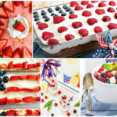 Party – Red, White and Blue Patriotic Desserts – Foodie Friends Friday Linky Party #248