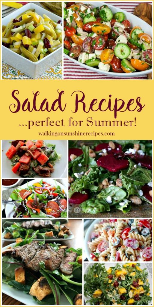 Salad Recipes perfect for Summer featured on Walking on Sunshine