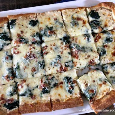 Recipe: Bacon and Spinach Alfredo Pizza