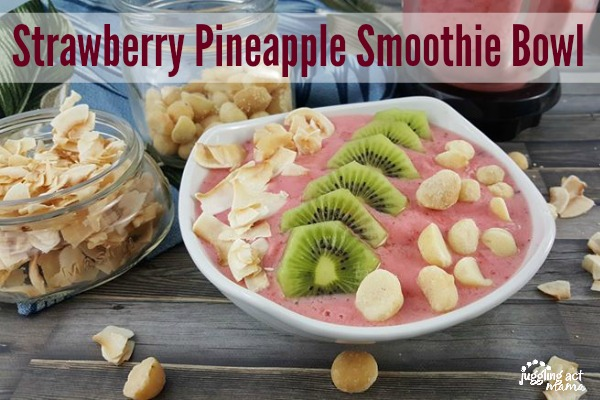 Strawberry Pineapple Smoothie Bowl from Juggling Act Mama