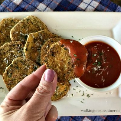 Healthy and Crispy Unfried Eggplant from Walking on Sunshine Recipes