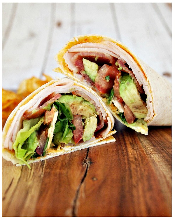 Bacon Turkey Club Wrap from A Cultivated Nest
