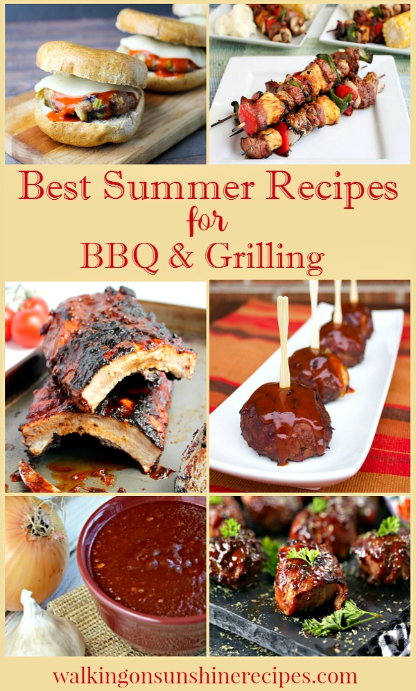 The best summer recipes for BBQ and Grilling featured on Walking on Sunshine.