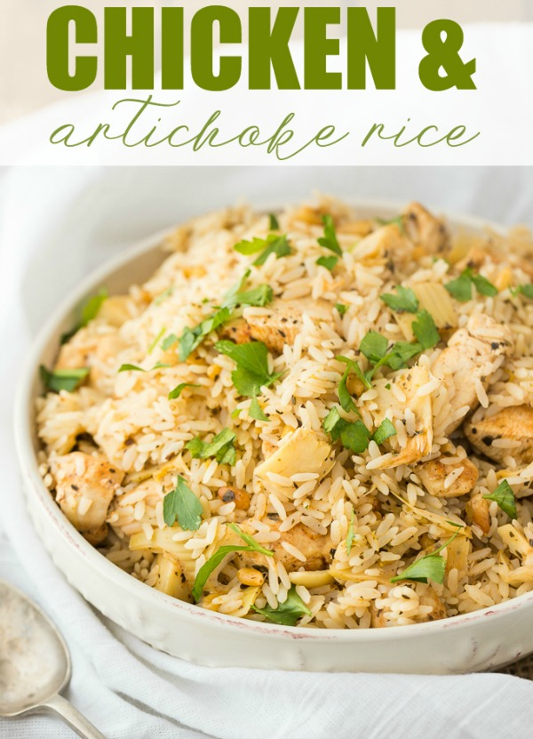 Chicken and Artichoke Rice Recipe from Simply Stacie