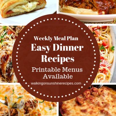 Weekly Meal Plan – Easy Dinner Recipes