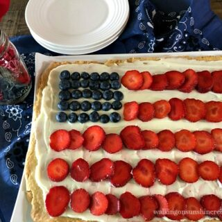 Flag Fruit Sugar Cookie Crust Pizza