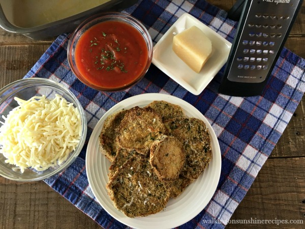 Ingredients for Healthy Baked Eggplant Parmesan from Walking on Sunshine