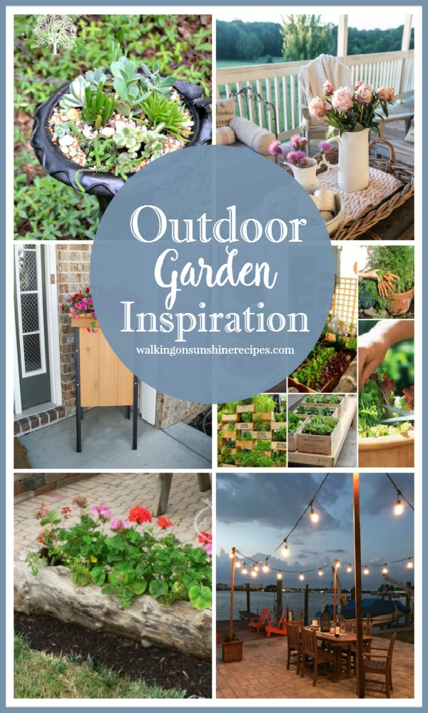 Let's get ready for summer with beautiful outdoor garden inspiration featured on Walking on Sunshine.