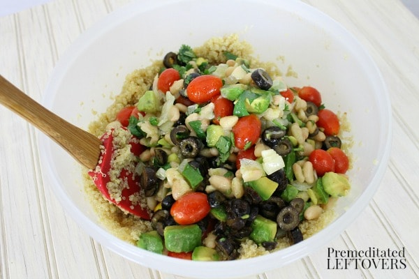 Easy Quinoa and Avocado Salad from Premeditated Leftovers