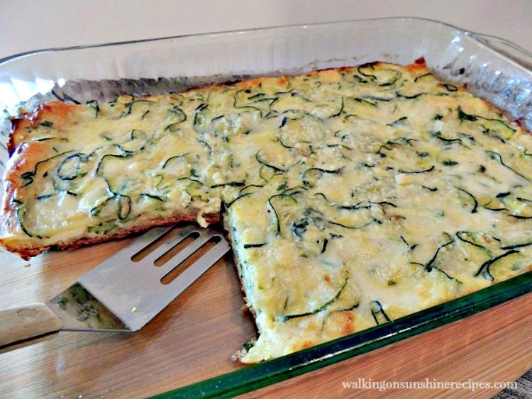 Zucchini Crescent Roll Pie sliced