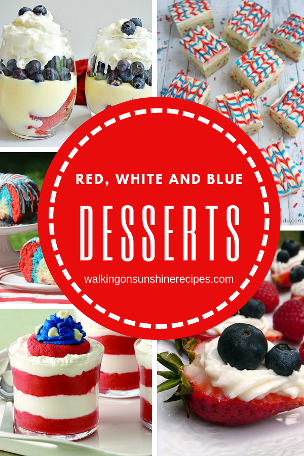 Patriotic desserts.