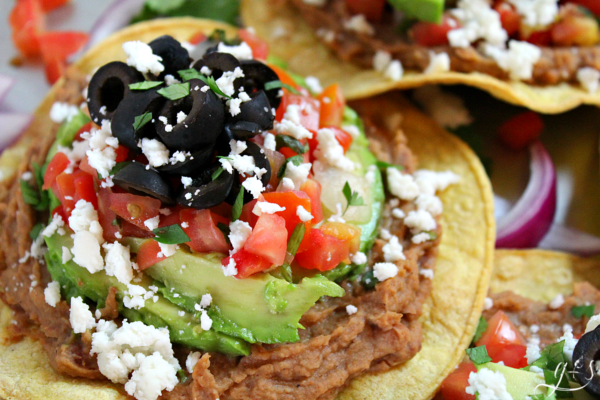 Easy Vegetarian Tostadas from Grounded and Surrounded