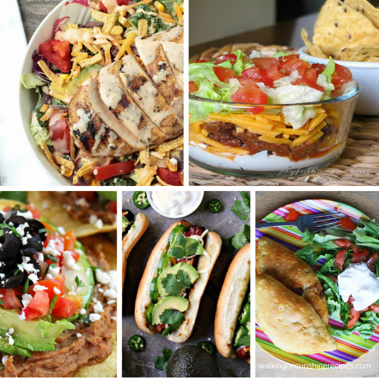 5 Mexican Inspired recipes to make for dinner.