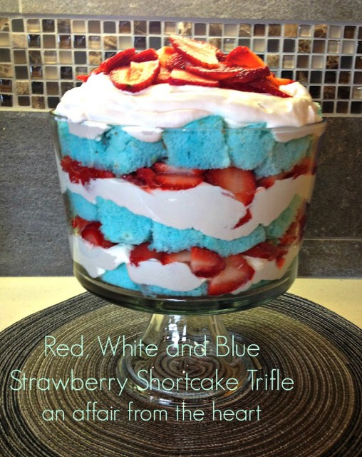 Red, White and Blue Strawberry Trifle from An Affair from the Heart