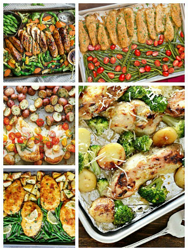 5 easy to make sheet pan recipes.