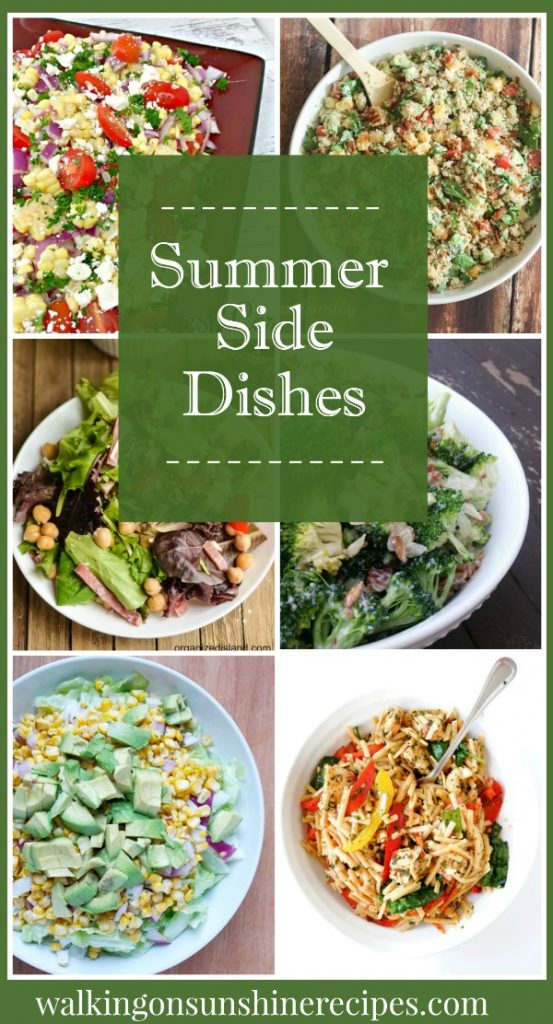 Summer Side Dishes are featured this week with our Foodie Friends Friday linky party from Walking on Sunshine.