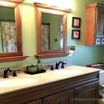 Projects:  Easy Bathroom Vanity Organization