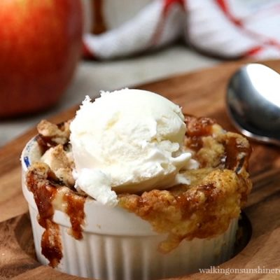 EASY Caramel Apple Dump Cake with VIDEO