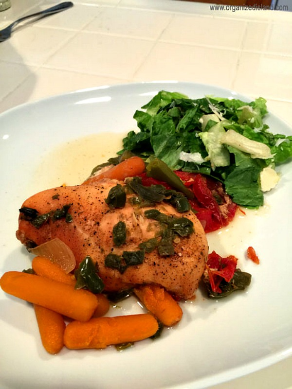 Crock Pot Chicken with Vegetables from Organized Island