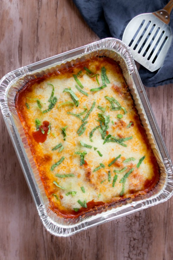 Easy Freezer to Oven Chicken Parmesan from New Leaf Wellness