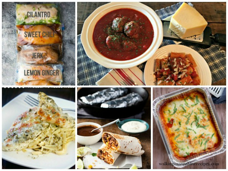 Make Ahead Freezer Meals | Weekly Meal Plan from Walking on Sunshine Recipes